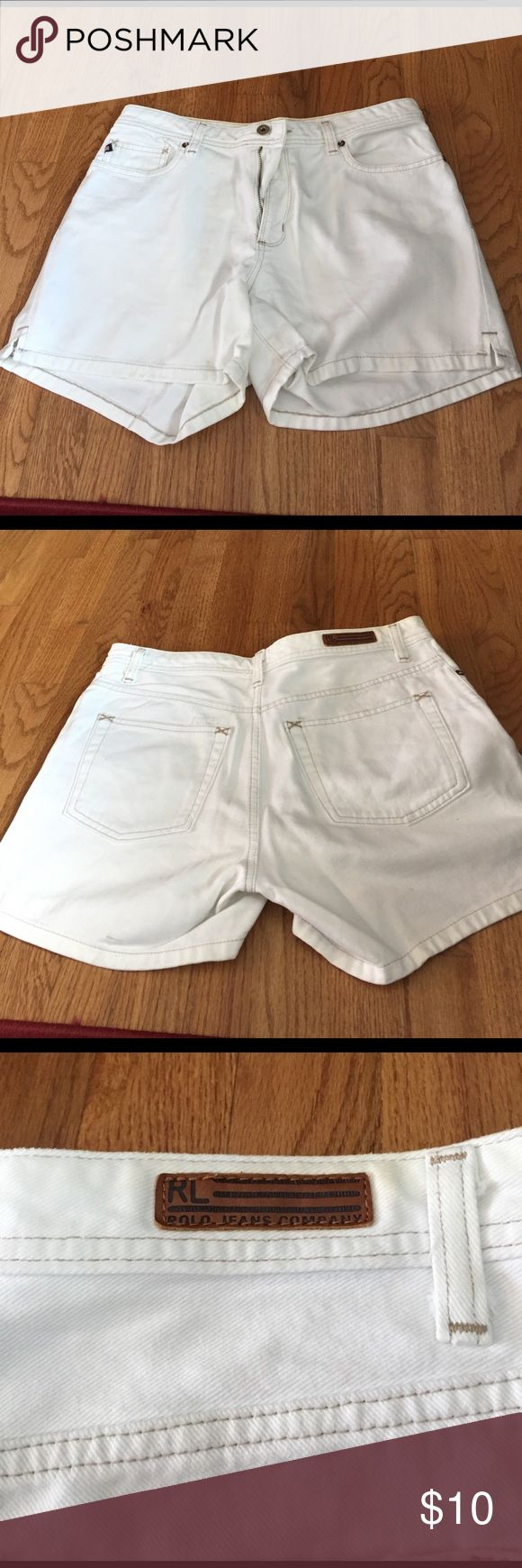 White womens jean shorts polo Ralph polo white jean shoes Great condition and quality Polo by Ralph Lauren Shorts Jean Shorts