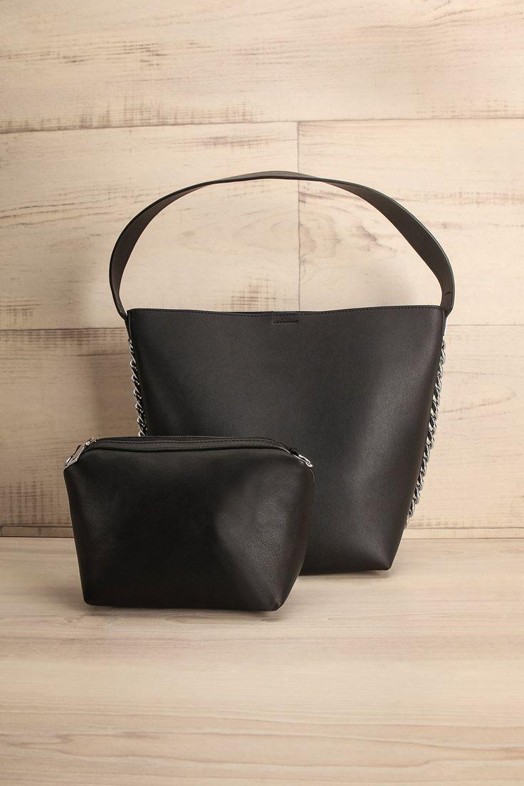 Stambruge #lapetitegarconne #bags #handbags #black #fauxleather #silver #clutch