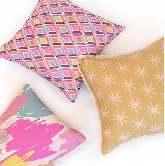 Ma and Grandy's Cut Crystal, Mustard Starry and Beautiful Mess Cushions. http://www.maandgrandy.com Designed by Natala Stuetz in Brisbane, Australia. © 2014 Ma and Grandy