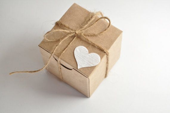 Rustic wedding, favor boxes, 100 boxes, kraft favours, small gift box                                                                                                                                                                                 More