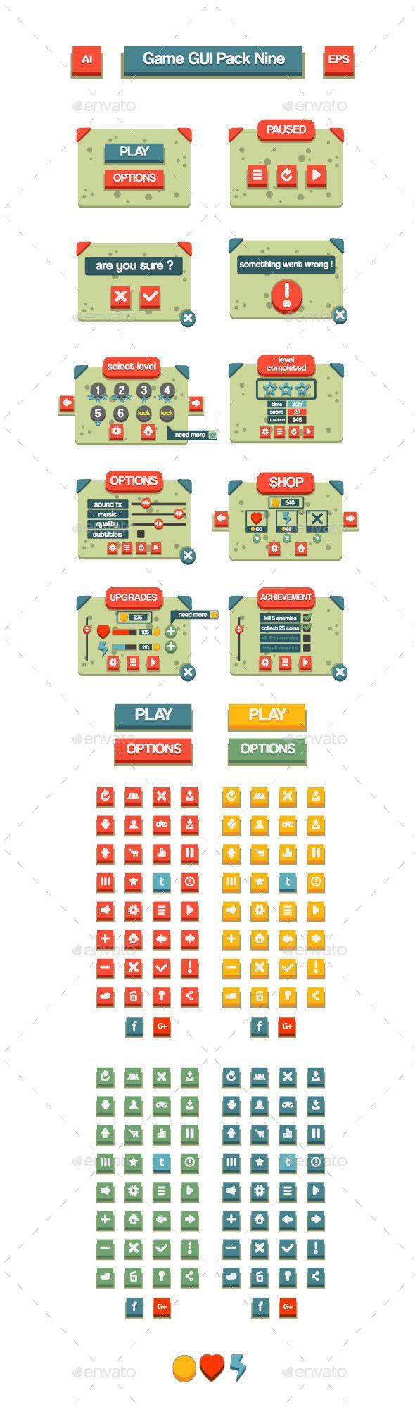 Game GUI Pack Nine