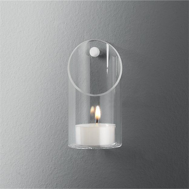 wall-mounted tea light candle holder | CB2