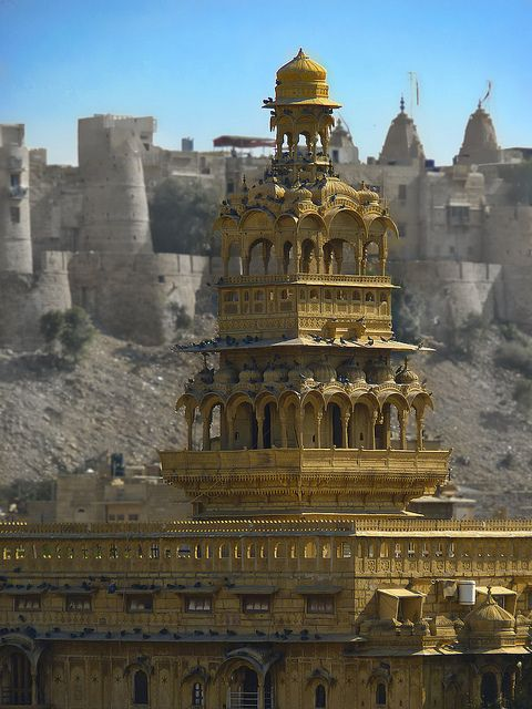 ॐ Hindu Temple & Palace, Jaisalmer Rajasthan, India, Hinduism architecture 卐