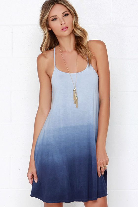 Kimchi blue gazelle dip-dye maxi dress