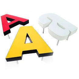 Letters for walls and decoration
