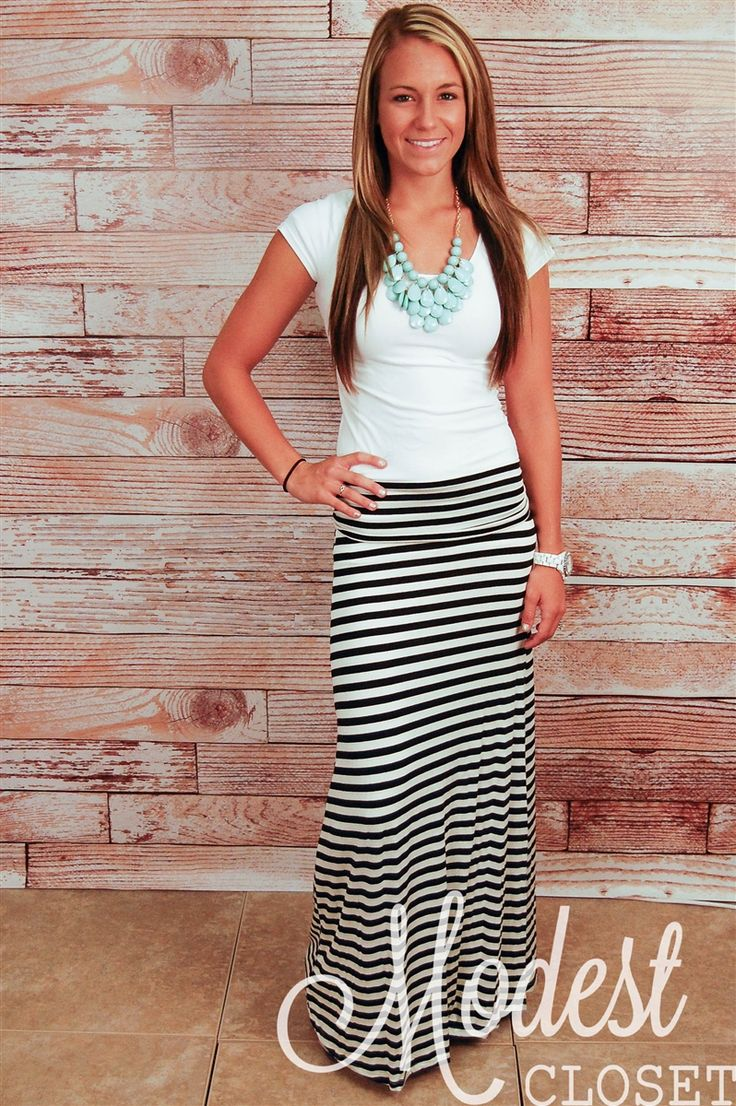 Lily Striped Maxi Skirt