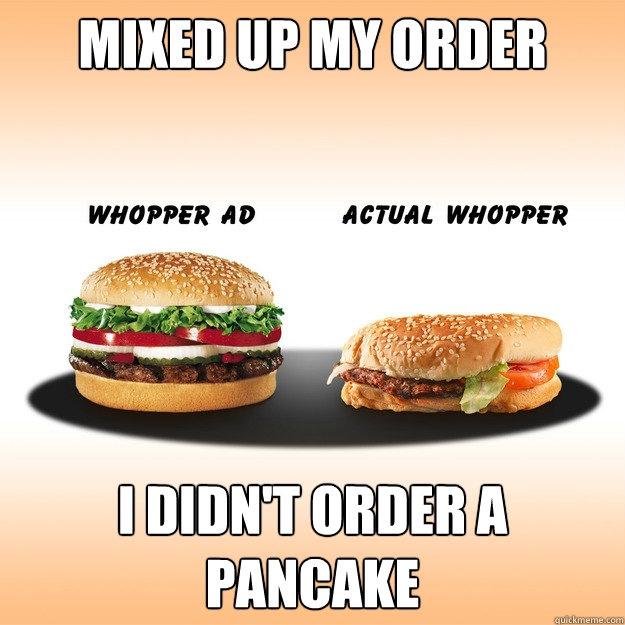 Fast Food - Ads vs. Reality (alphaila.com project) - Burger King Whopper