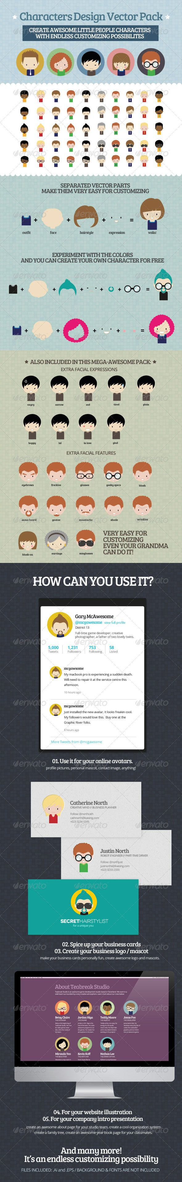 Characters Design Vector Pack_Purchase : http://graphicriver.net/item/characters-design-vector-pack/2095292?ref=ThemeTruly