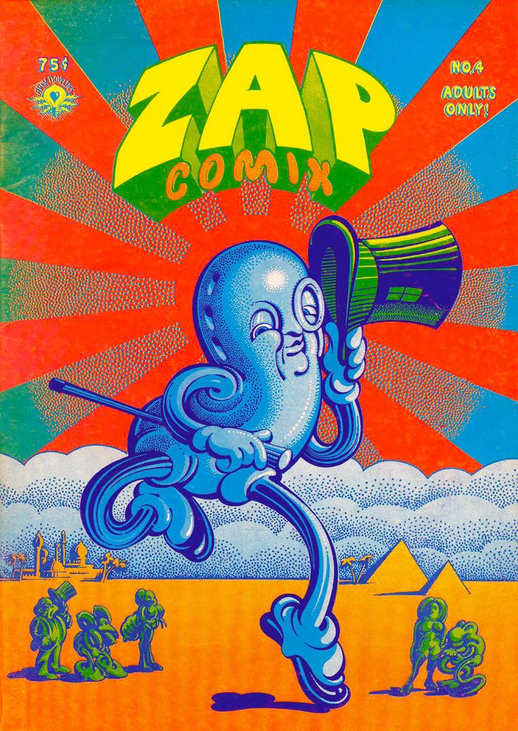 Zap Comix 4 by #Victor_Moscoso #underground_comics- This is in my collection