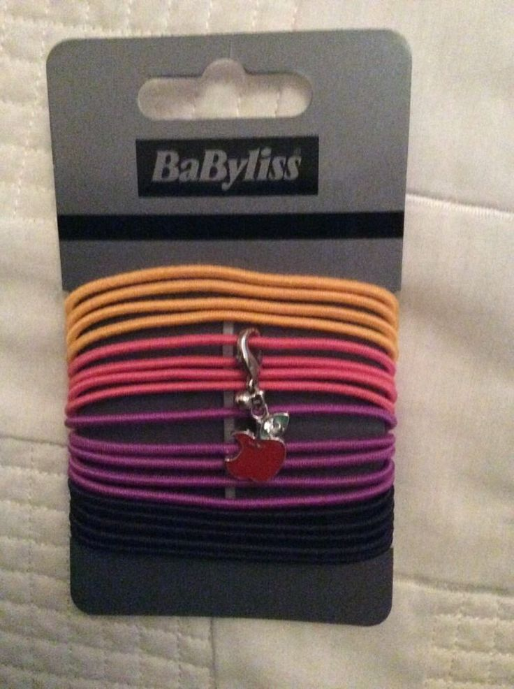 BaByliss 18 HAIR BOBBLES with charm PONYTAIL HAIR BANDS BNWT hair accessory