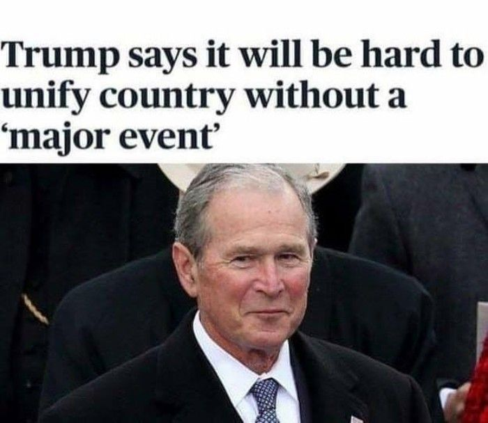 Trump Says It Will Be Hard To Unify Country Without A Major Event Best Funny Photos Funny Photos Of People Funny Memes