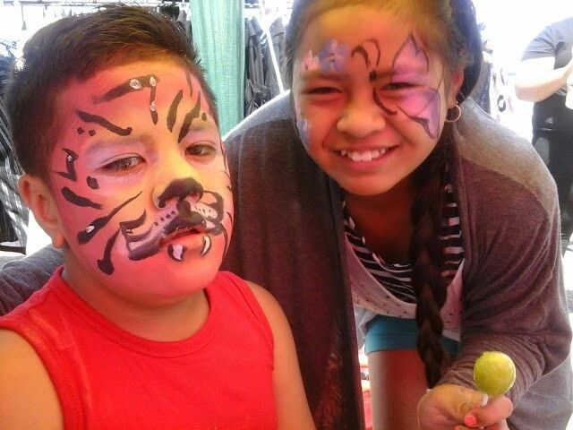 Face Painting Stall in the Avondale Market