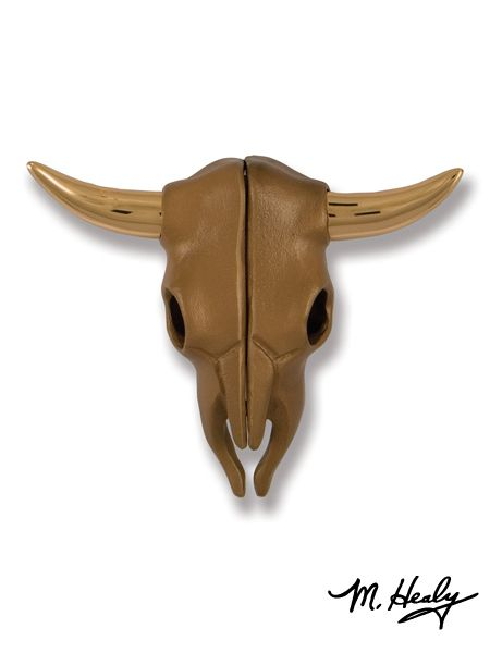 Steer Skull Door Knocker - A handsome addition to your western or southwestern front door!  Available at Lights in the Northern Sky www.lightsinthenorthernsky.com