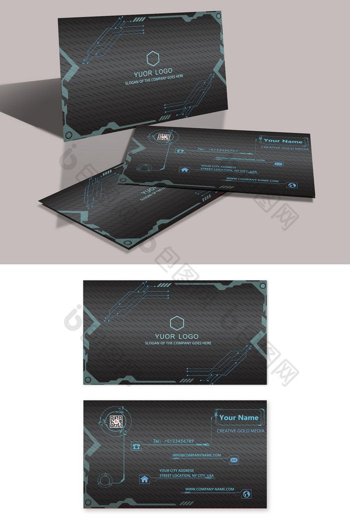 Carte De Visite Free Business Card Templates Fashion Technology CardFree Download At Pikbest