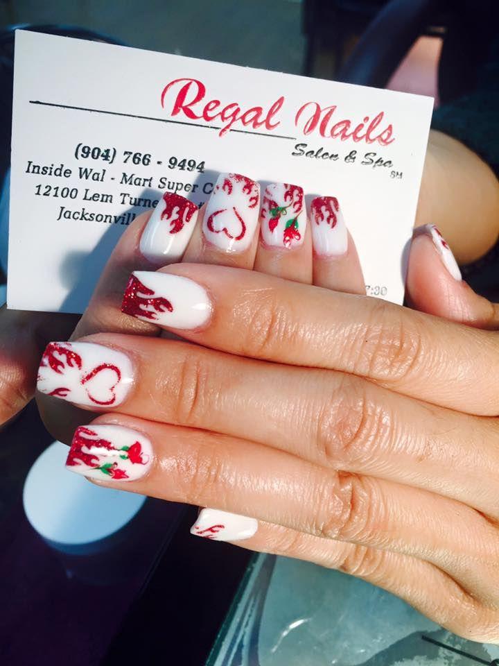 8 best regal nails jacksonville florida images on pinterest valentine nails valentine nail art heart nail art red nail art white prinsesfo Choice Image