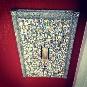 bejeweled light switch!-- for my craft room,