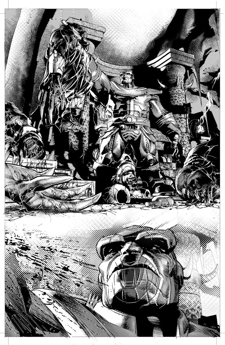 Thanos #2 preview. B&W. Out next week.