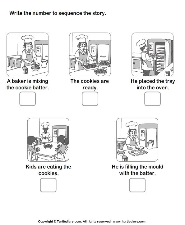 image regarding 4 Step Sequencing Pictures Printable identified as freebie sequencing a sentence worksheet