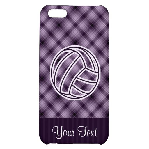 Purple Volleyball Cover For iPhone 5C
