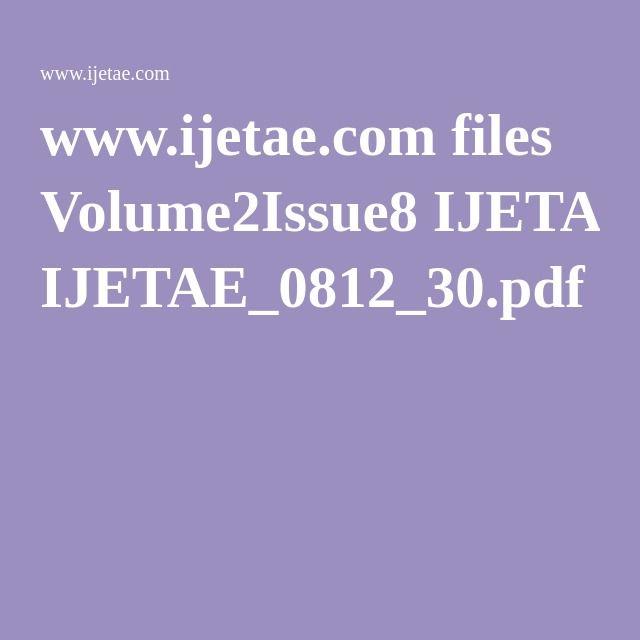 www.ijetae.com files Volume2Issue8 IJETAE_0812_30.pdf