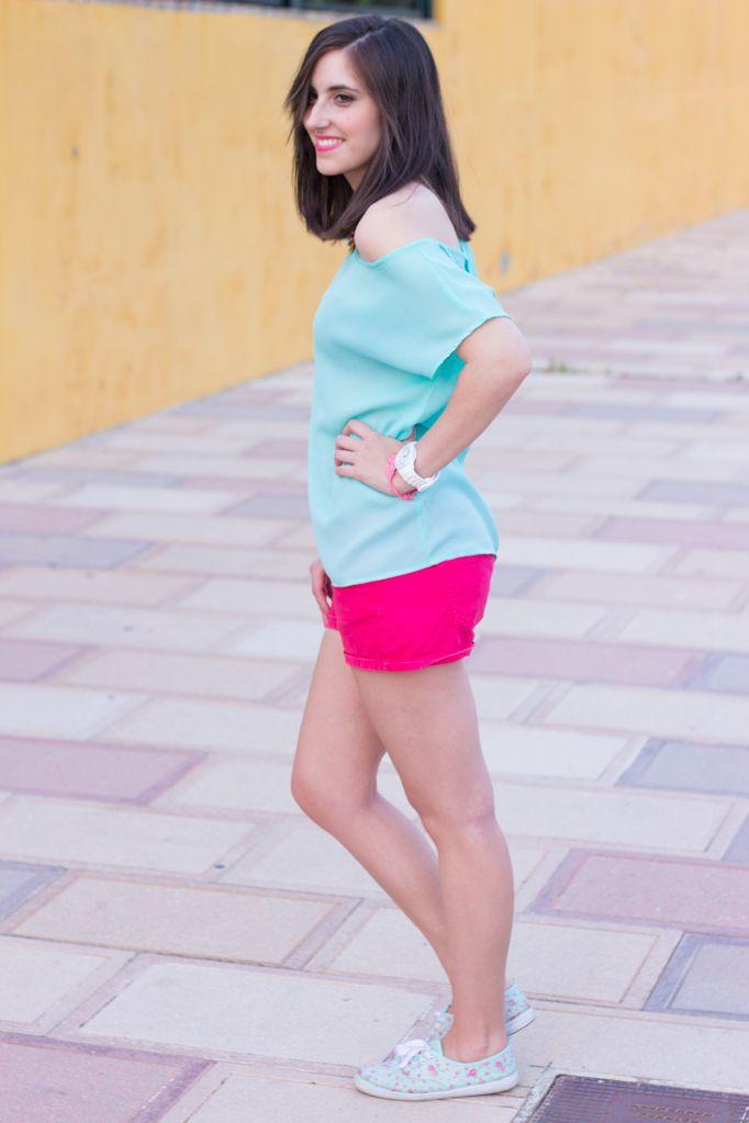 SPRING COLORS 20-06-2014  Camiseta/T-Shirt – Blanco Shorts – Lefties Zapatillas/Shoes – Primark