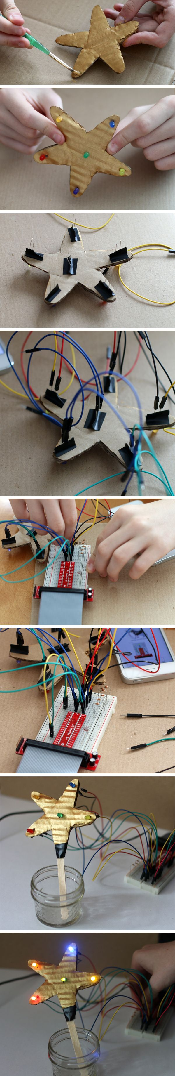 """""""Light Up the Season with Computer Science Exploration"""": a family explores Raspberry Pi. [Source: Science Buddies, http://www.sciencebuddies.org/blog/2014/12/light-up-the-season-with-computer-science-exploration.php?from=Pinterest] #STEM #Rpi #compsci #scratch"""