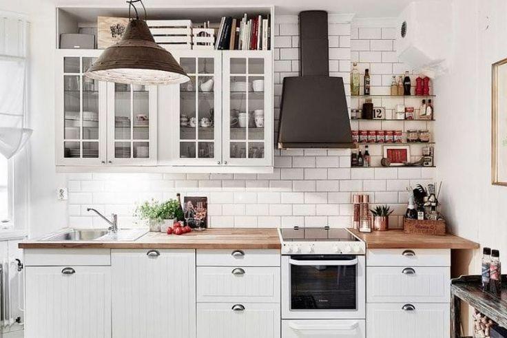 Фартук кабанчик на кухне в скандинавском стиле