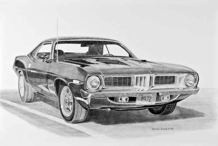 Line Drawing Of Old Cars Hotrod Drawing By Nathan Miller