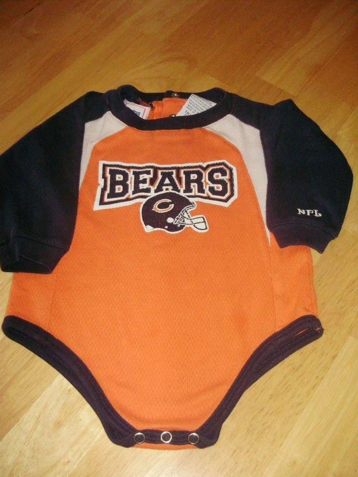 Chicago Bears NFL Baby Boy One Piece Bodysuit Creeper Tall 18 Months #NFL #FootballEveryday