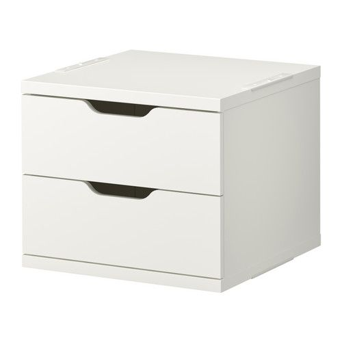 STOLMEN 2-drawer chest IKEA If you want to organize inside you can complement with SKUBB box, set of 6.