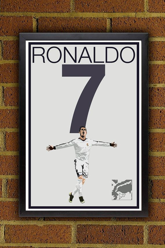Cristiano Ronaldo 7 Poster Real Madrid Portugal by Graphics17