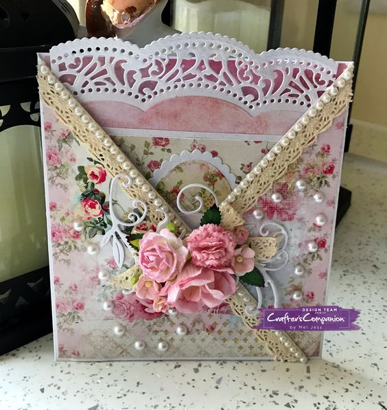 Tag Card made using Sara Signature Shabby Chic collection – Designed by Mel Jess. #crafterscompanion