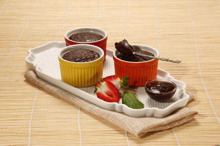Mini brownies no microondas