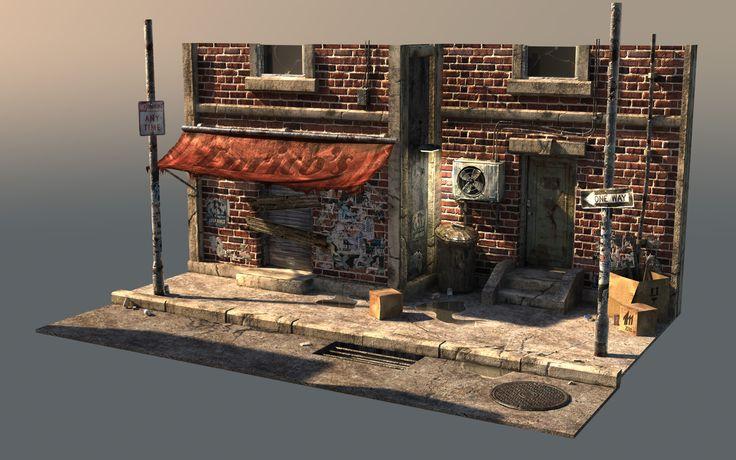 Game Art Study - Urban Scene - Maxime Guindon - Environment Artist