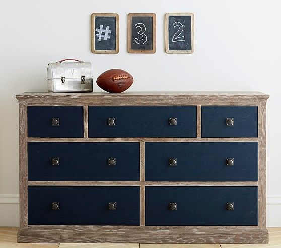 Monique Lhuillier Charlie Extra Wide Dresser | Pottery Barn Kids