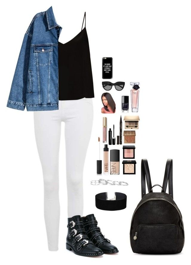 """""""Untitled #465"""" by mariapangal on Polyvore featuring Topshop, Raey, Givenchy, STELLA McCARTNEY, Miss Selfridge, Kendra Scott, NARS Cosmetics, Bobbi Brown Cosmetics, tarte and Smith & Cult"""