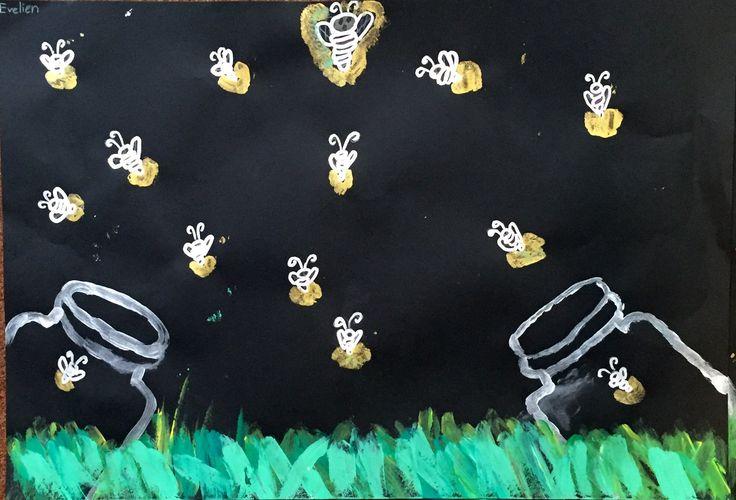 """Beter BijLeren on Twitter: """"Vuurvliegjes #tekenles #groep4. Spannend hoor, schilderen en tekenen met goud en zilver! https://t.co/n5qmoDhYtv"""""""