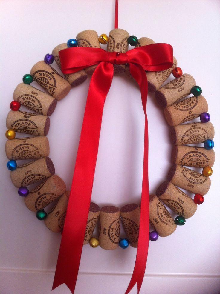 Cork christmas wreath