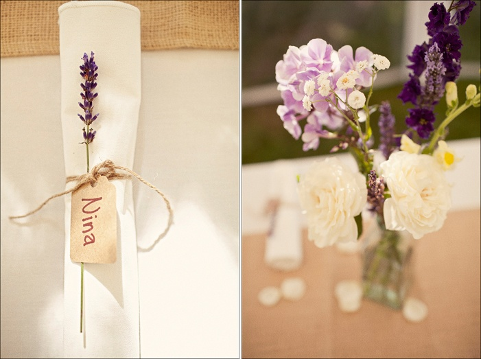 name place holder  with lavender and twine.  via Jagger Photographer(who are my fave)