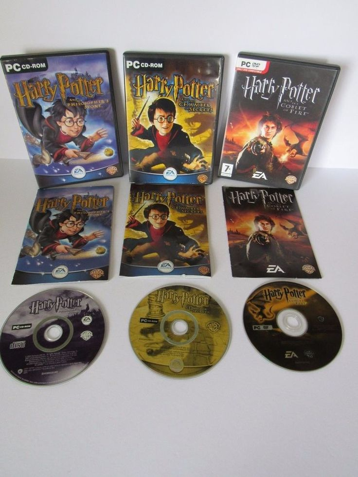 Harry Potter PC Game Bundle Philosophers Stone Chamber of Secrets Goblet of fire