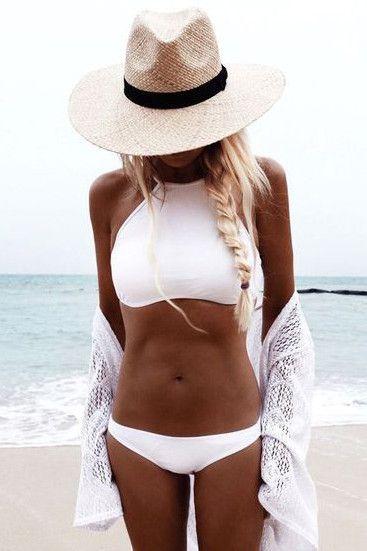 Sexy High Neck Bikini Set Swimsuit Swimwear