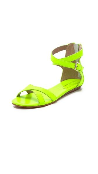 Rebecca Minkoff neon sandals.