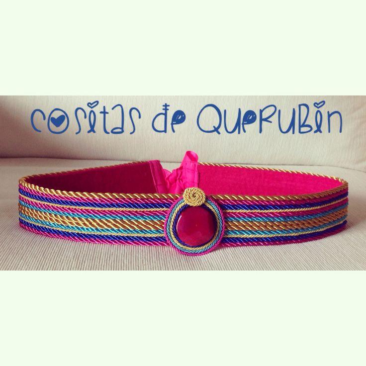 Cinturón multicolor y piedra 35 €. Envíos a toda España. Elige los colores que quieras combinar  Www.cositasdequerubin.wordpress.com