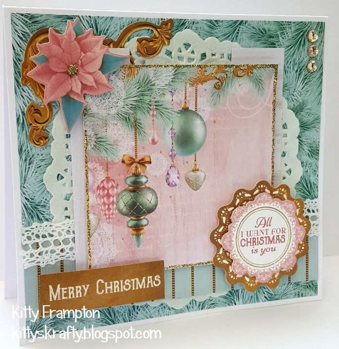 Made for Making Cards Magazine using Kaisercraft Christmas Wishes Collection.