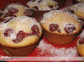 Reteta culinara Briose cu visine (sau orice fruct) din Carte de bucate, Dulciuri. Specific Romania. Cum sa faci Briose cu visine (sau orice fruct)