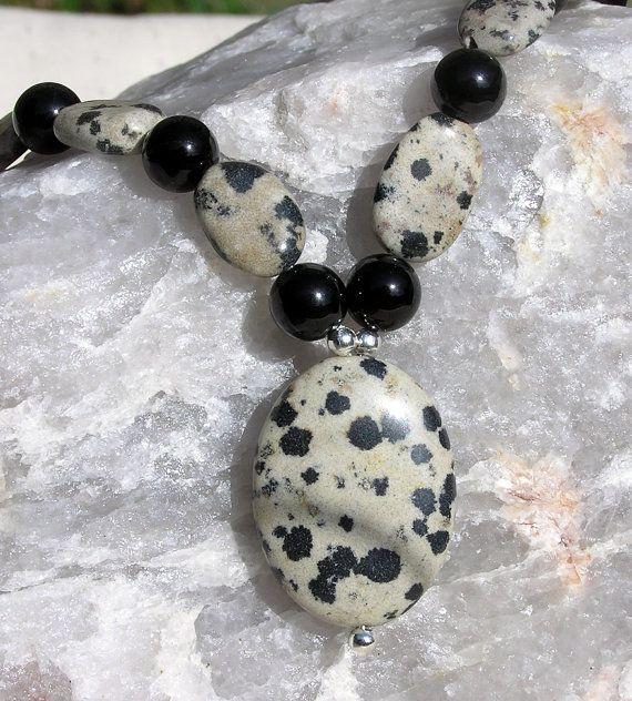 Dalmatian Jasper & Black Onyx Crystal Gemstone by SunnyCrystals, $30.00