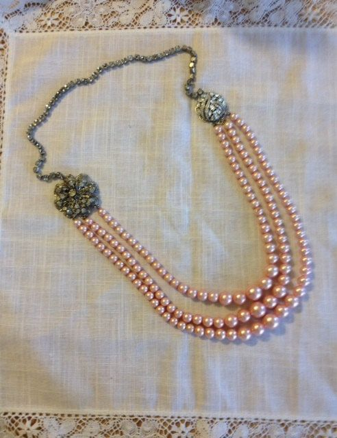 Necklace from Upcycled Vintage Jewelry by heartsoftoday on Etsy, $50.00