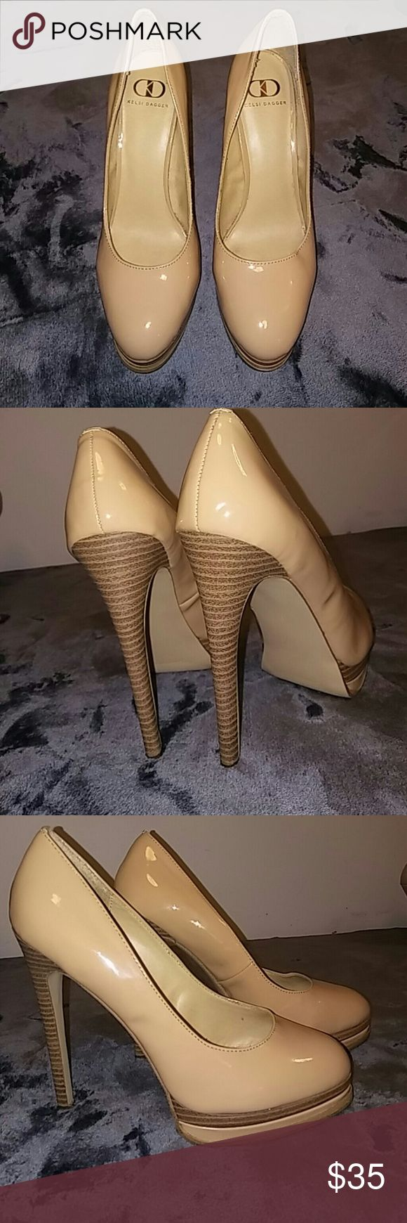 Kelsi dagger nude heels Hardly worn Kelsi dagger nude heels Kelsi Dagger Shoes Heels