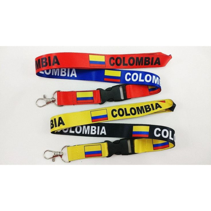 2 Colombia Flag reversible Lanyards