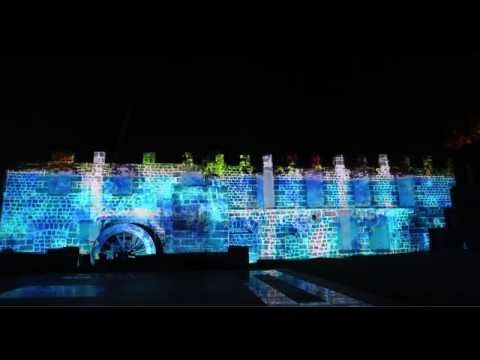 VideoMapping @ Maritim ruins for IPG reveal night
